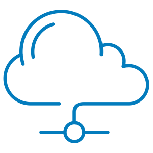 Icon showing a cloud