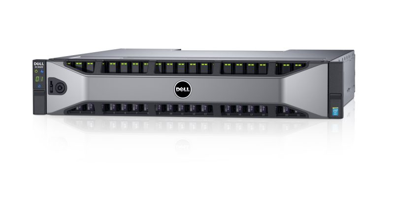 Dell Storage SC4020 (Yanging) storage controllers with bezel.